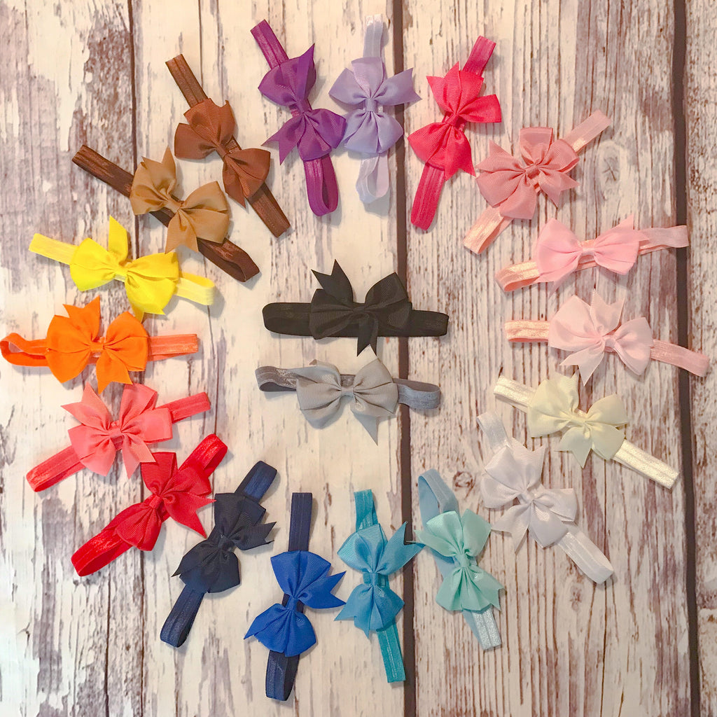 "3"" bow headbands in 18 colors"