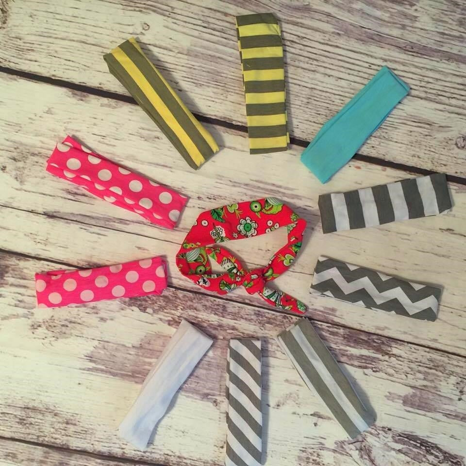 Rabbit Ear Headbands in various prints and colors