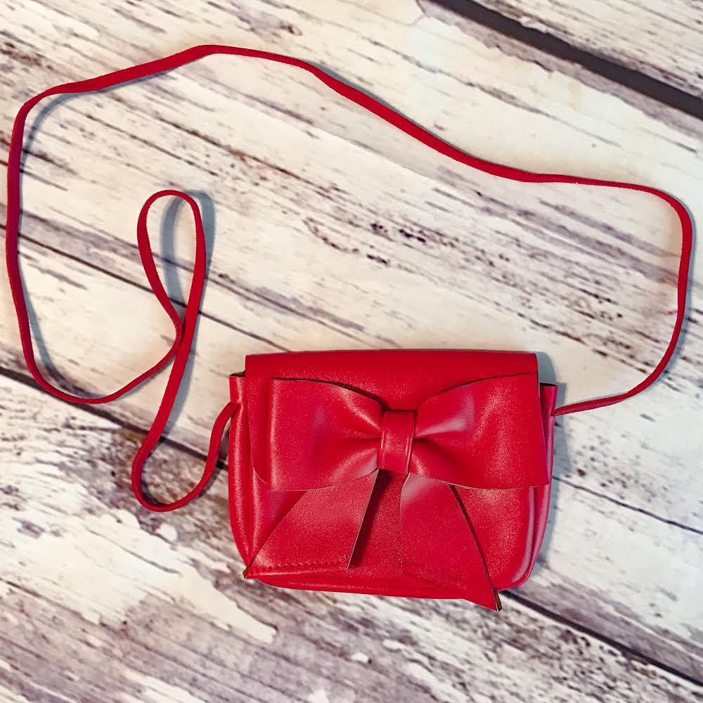 Vegan Leather Bow Crossbody Bags