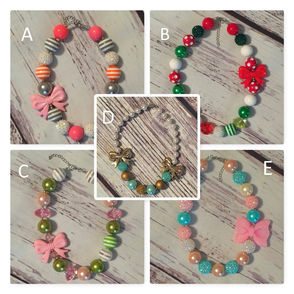 Chunky Bead Necklaces collage