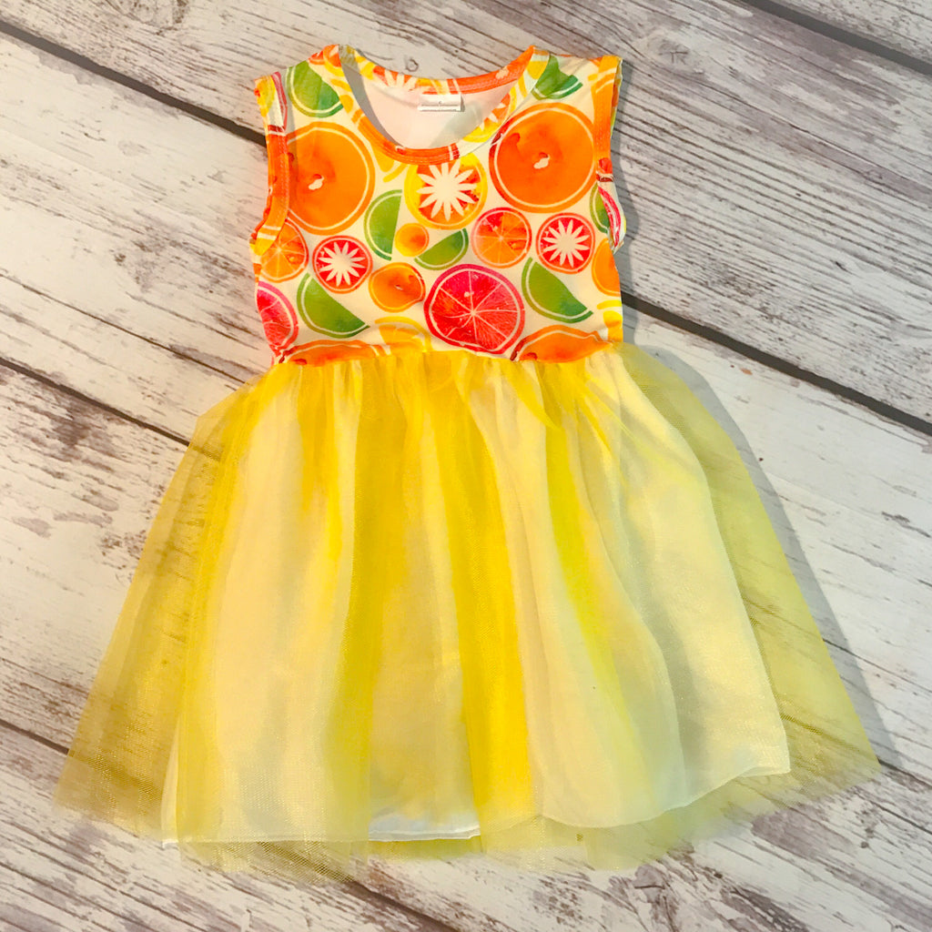 Summer Citrus Tutu Dress