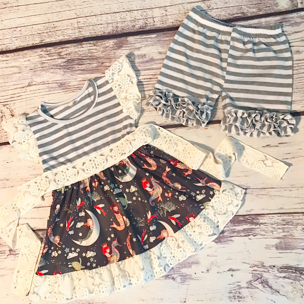 The Stormi Tunic & Icing Shorts Set