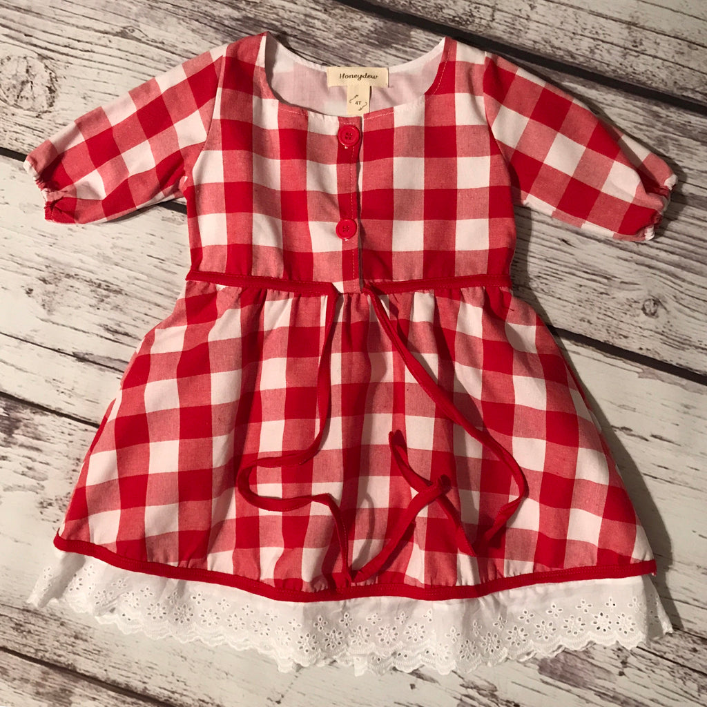 The Mary Jane Dress in Red Buffalo Plaid