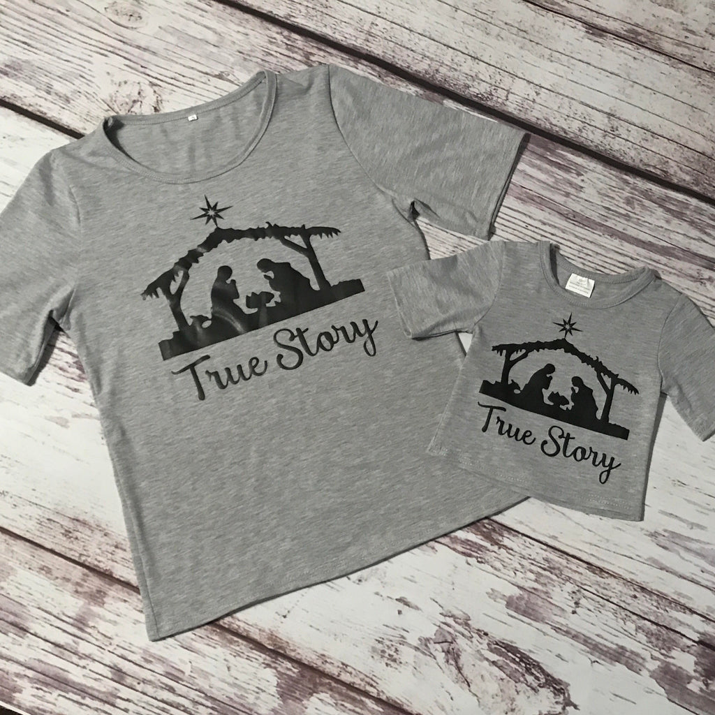 True Story Mommy & Me Tee Shirts