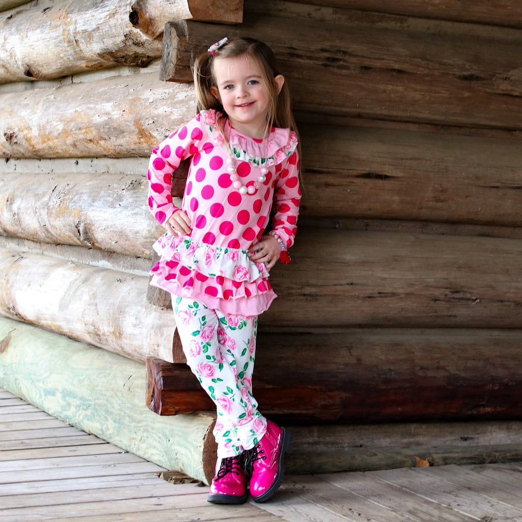 The Addison Ruffle Tunic & Leggings Set