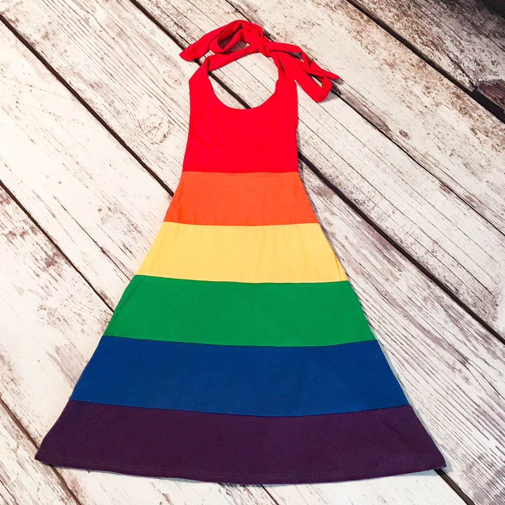 Chasing Rainbows Halter Maxi Dress