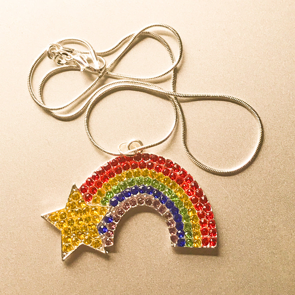 Chasing Rainbows Rhinestone Necklace
