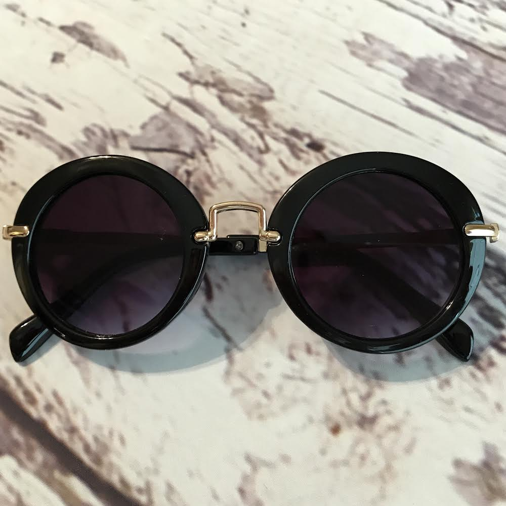 black retro sunglasses for kids