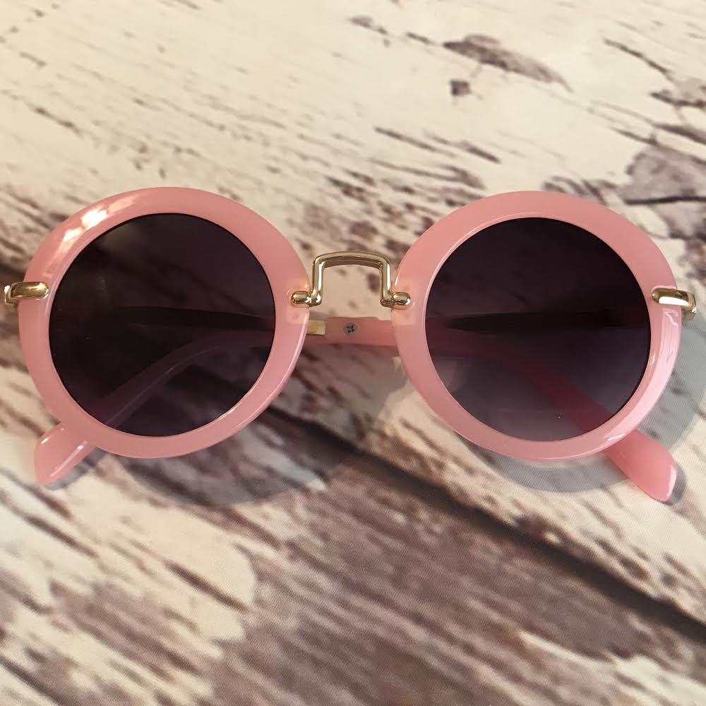 pink sunglasses for kids, retro style