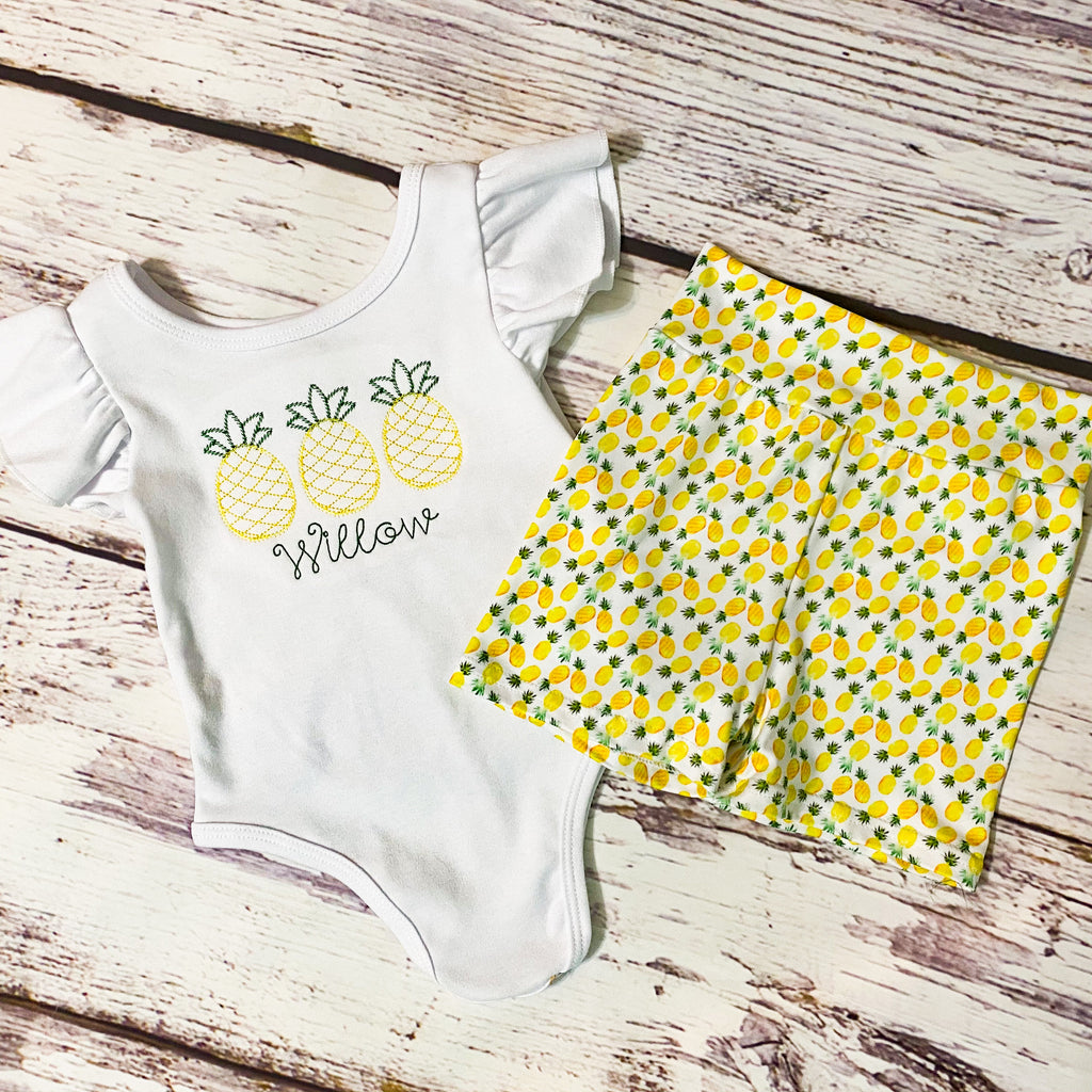 Pineapple Party Bodysuit & Shorties