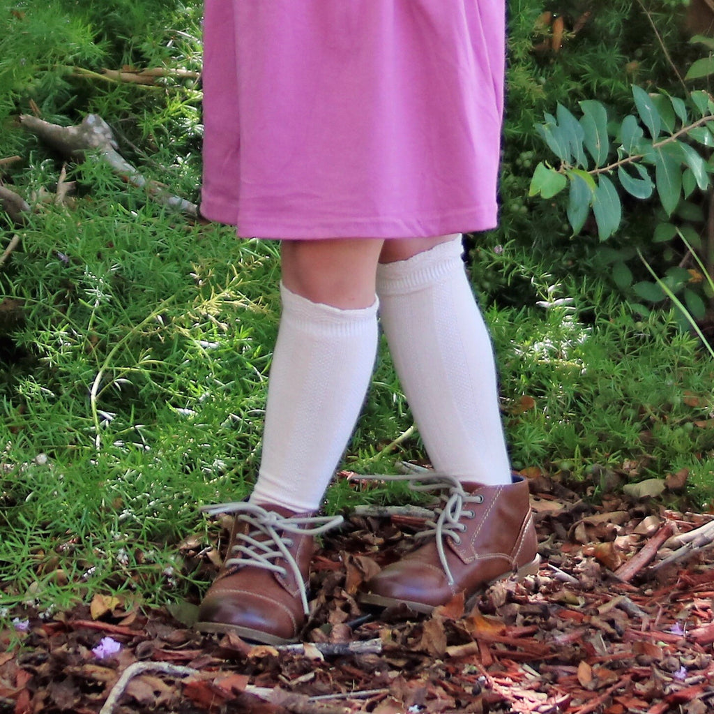 Ruffle Top Knee Socks