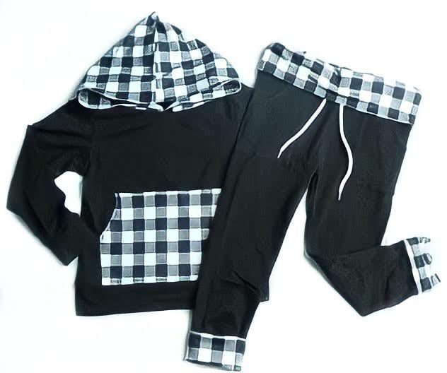 The Buffalo Plaid Jogger Hoodie & Pants Set