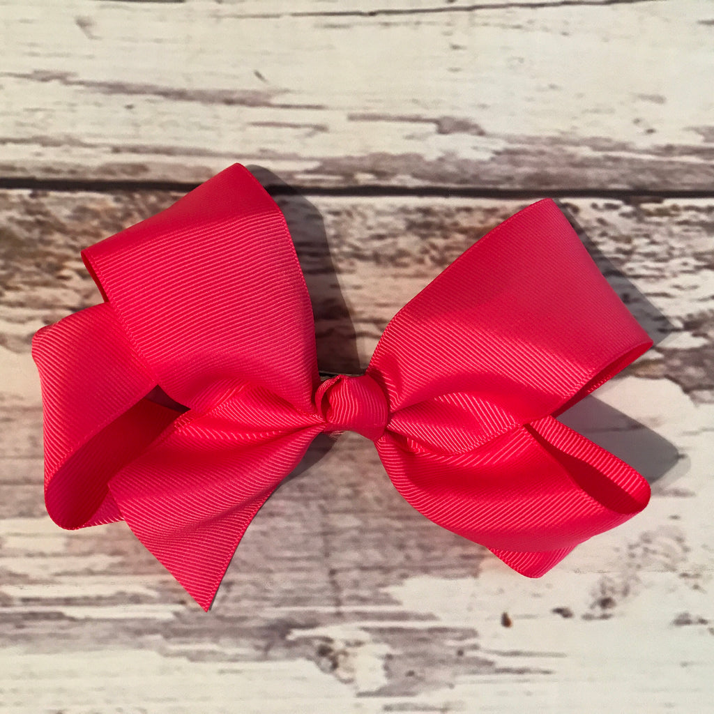 6-inch Grosgrain Bows on Alligator Clips