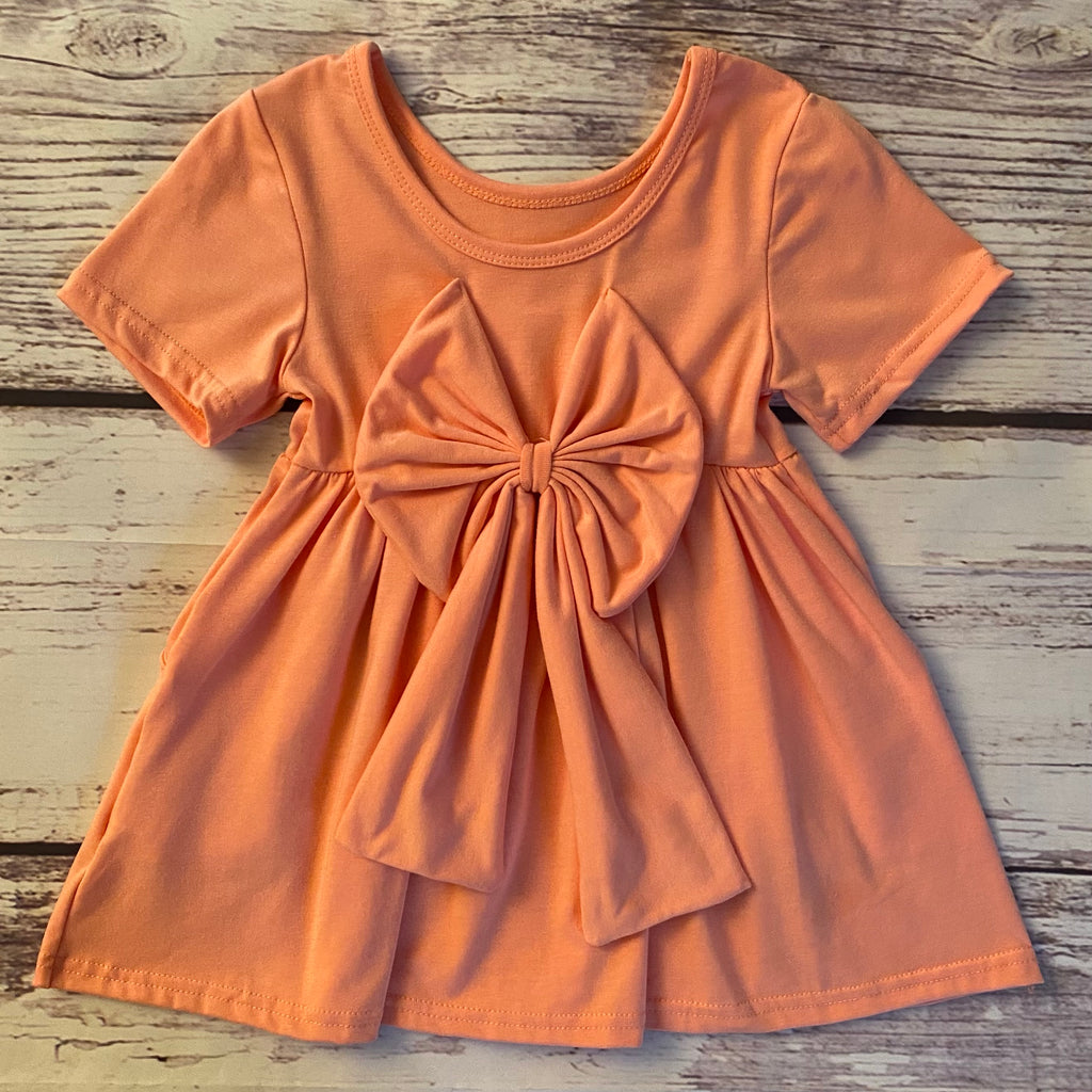 The Miranda Dress in Peach