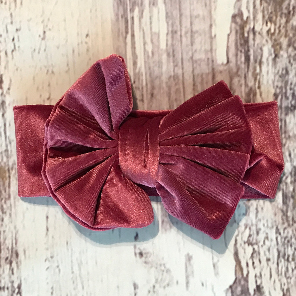 Velvet Messy Bow Headbands
