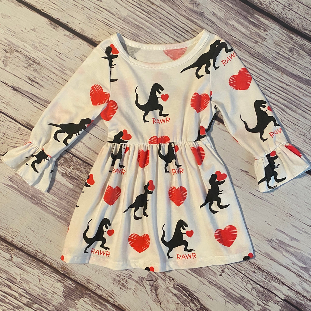 Dinosaurs & Hearts Dress