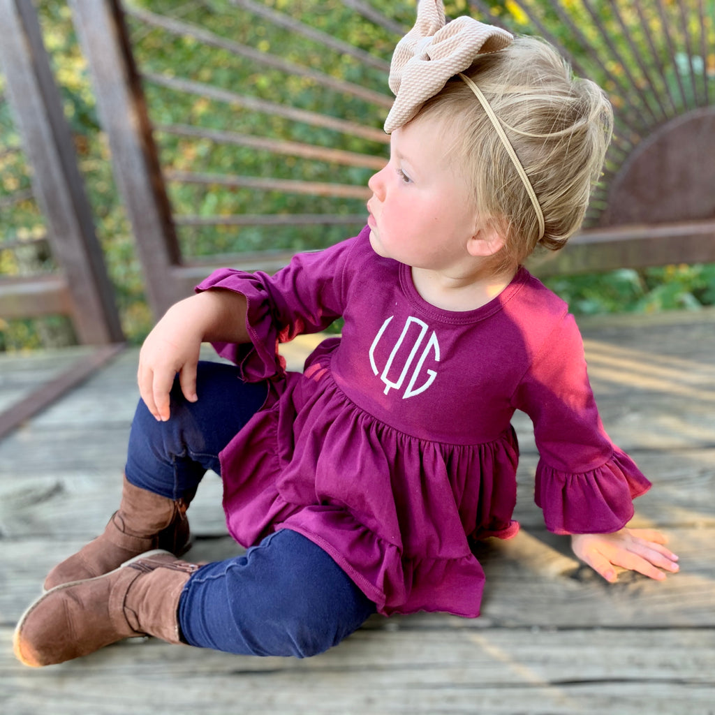The Ling Hi Lo Tunic in plum