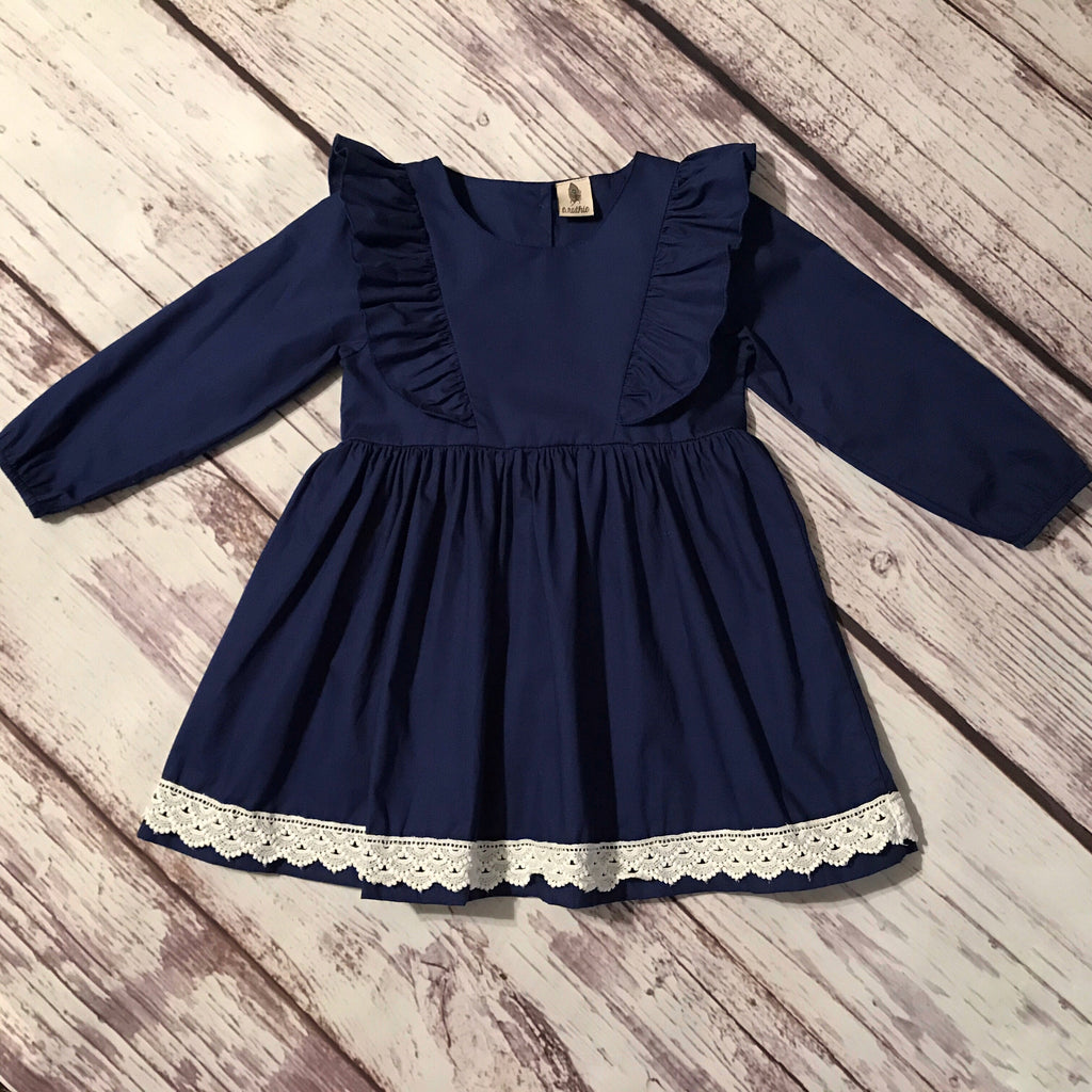 The Rachel Dress in Navy Blue