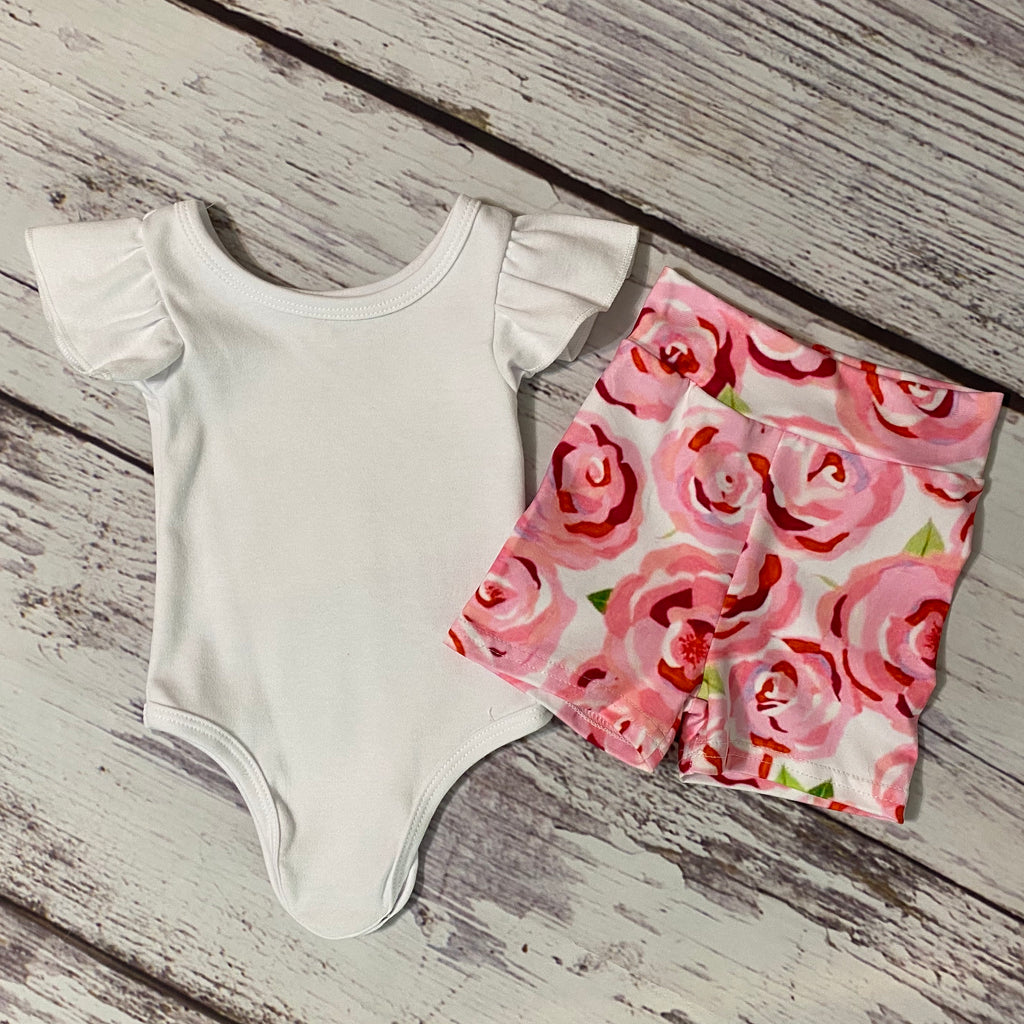Radiant Roses Bodysuit & Shorties
