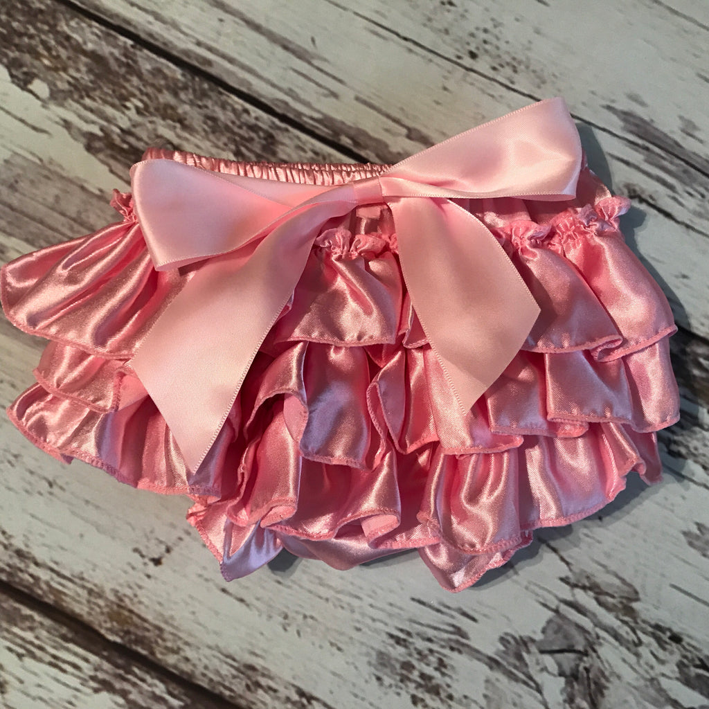 Satin Ruffle Bottom Bloomers