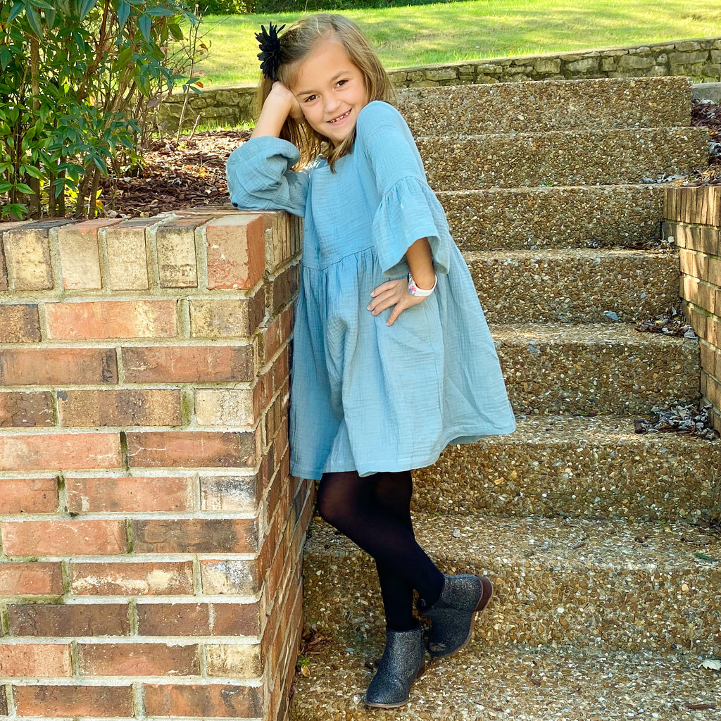The Zoe Dress in Tidewater Teal