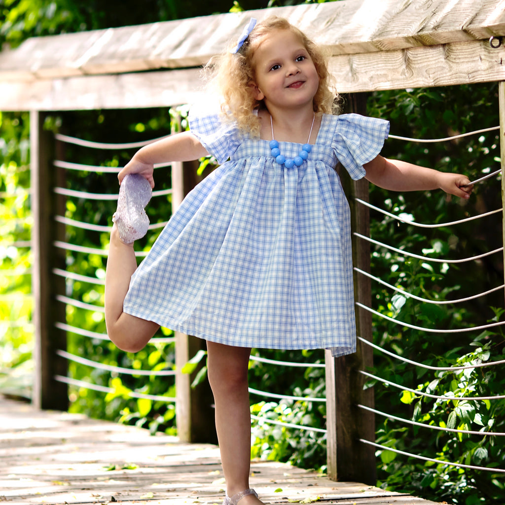 The Carolina Dress in Cornflower Blue (booboo dress)