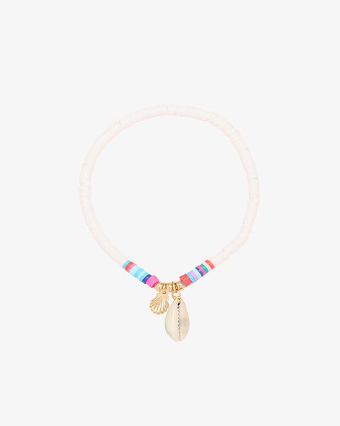 Happy Shell Bracelet - Baby Pink