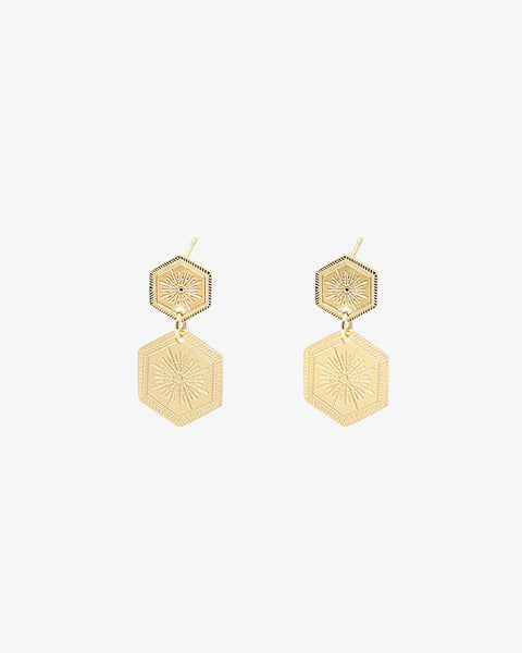 Shine On Earrings - Gold