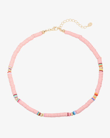 Surf Babe Necklace - Pink - we are SASSY.