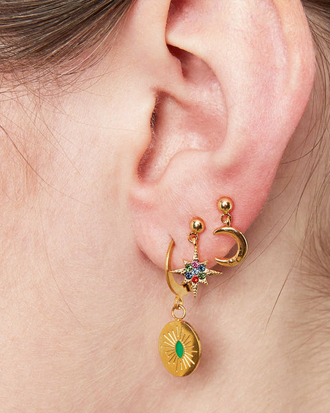 Starry Night Earrings - Gold