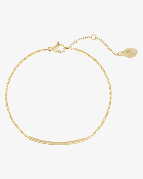 Bowed Bar Bracelet - Gold