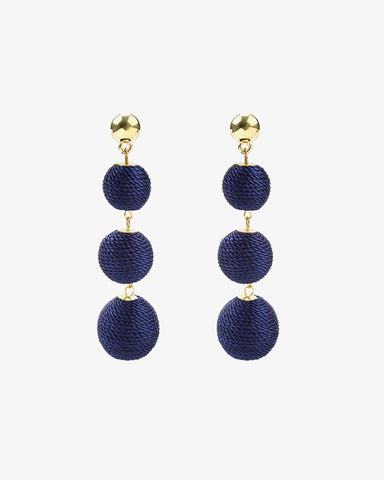 Rounds of Cotton Earrings - Blue - we are SASSY.