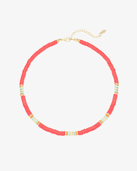 Wave Lover Necklace - Red