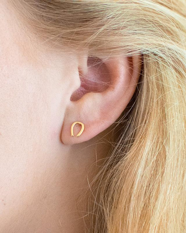 Buffalo Earrings - Gold - we are SASSY.