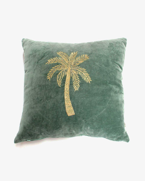 À la - Velvet Cushion - Green