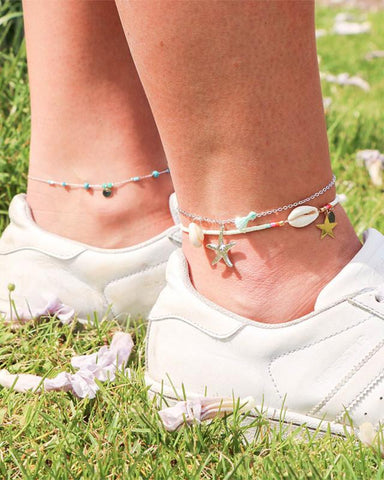 Beads & Beach Ankle Strap - we are SASSY.