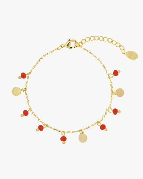 Color Beads Bracelet - Gold