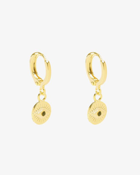 Curious Eyes Earrings - Gold
