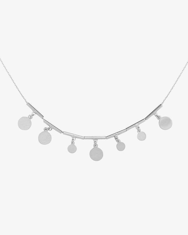 Dots & Circles Necklace - Silver - we are SASSY.