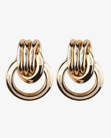 Double Vintage Earrings - Gold - we are SASSY.