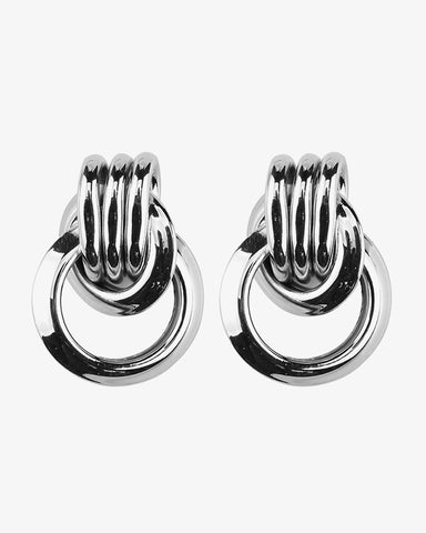 Double Vintage Earrings - Silver - we are SASSY.