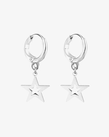 Galaxy Star Earrings - Silver - we are SASSY.