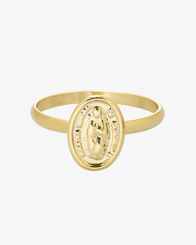Holy Mary Ring - Gold - we are SASSY.