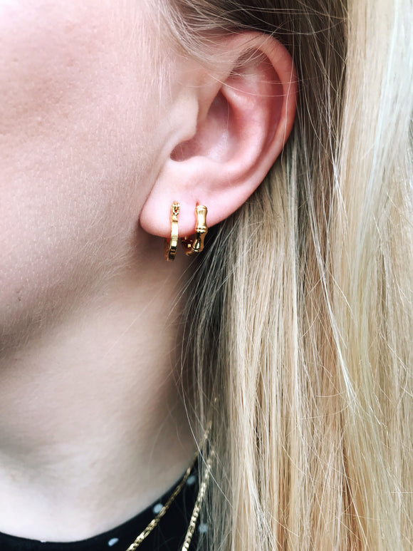 Bamboo Earrings - Gold - we are SASSY.