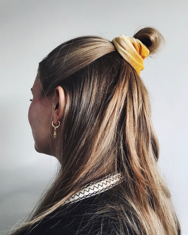 Velvet Scrunchie - Yellow - we are SASSY.