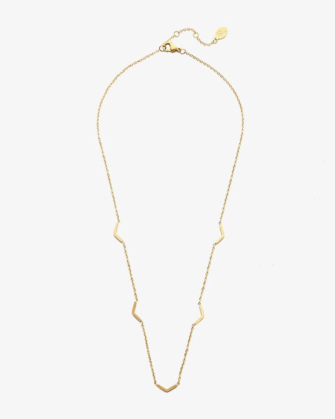 Bird Figures Necklace - Gold