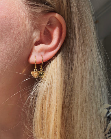 Palm Tree Earrings - Gold - we are SASSY.