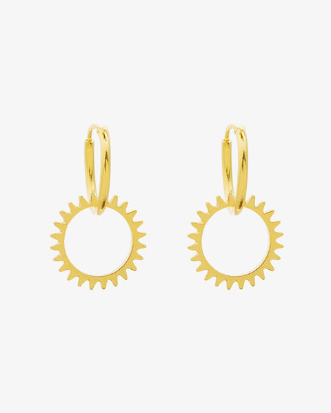 Keep Turning Earrings - Gold