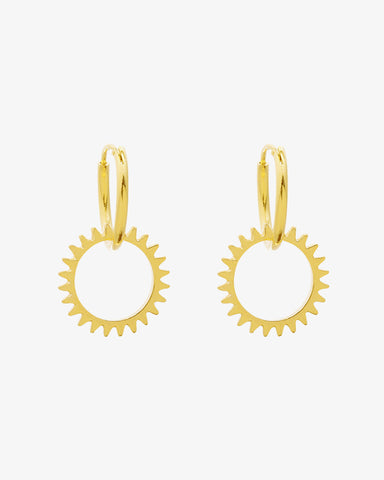 Keep Turning Earrings - Gold - we are SASSY.