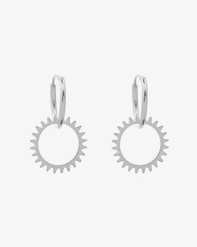 Keep Turning Earrings - Silver - we are SASSY.